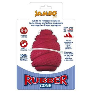 Brinquedo Jambo Rubber Cone Vermelho - tamanho Grande