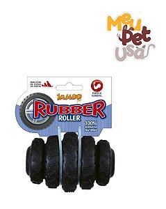Brinquedo Rubber Roller Preto - tamanho Médio - Jambo Pet
