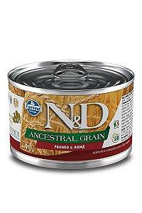 Ração Úmida Lata Farmina N&D Ancestral Grain Frango & Romã para Cães Adultos 140g