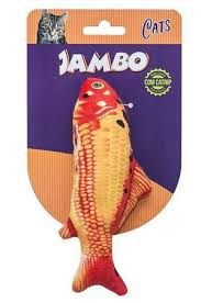 Brinquedo para Gato com Catnip -  Peixe Real Fish Carpa Jambo Pet