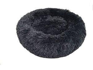 Cama para Pet em pelúcia tamanho médio cor cinza Jambo Pet