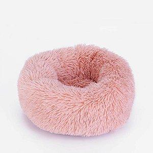 Cama para Pet em pelúcia tamanho pequeno Jambo cor Rosa