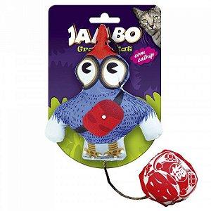 Brinquedo com Catnip Para Gato Grafic Bird Azul Jambo Pet