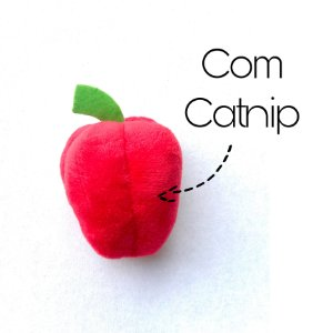 Brinquedo com Catnip de Gato Pelúcia Food Pimentão Jambo Pet