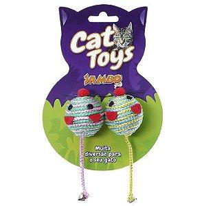 Brinquedo para Gato Ratinho Redondo Jambo com 2 unidades