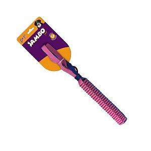 Brinquedo para cachorro Mordedor Top Twist Resist Stick Azul e Rosa - Tam Pequeno