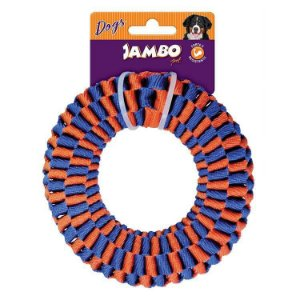 Brinquedo Corda Jambo Twist Resist Ring Azul e Laranja