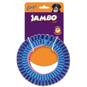 Brinquedo Corda Jambo Top Twist Resist Ring Azul e Rosa