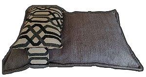 Cama para Pet Confort com Travesseiro Grande Meu Pet Usa