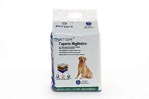 Tapete Higiênico para cachorro PetCare 80 x 58cm 30 unidades