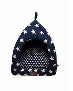 Cabana Cama 2 em 1 Para Pet Modelo Star Azul Fabrica Pet