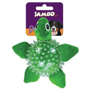 Brinquedo para Cachorro Bola Pelúcia Spik Ball Tartaruga