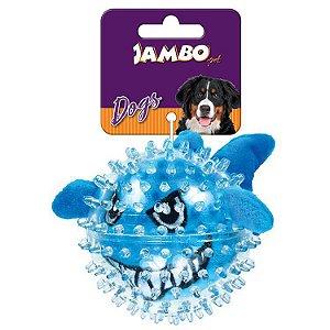 Brinquedo para Cachorro Bola Pelúcia Spike Ball Tubarão Jambo Pet
