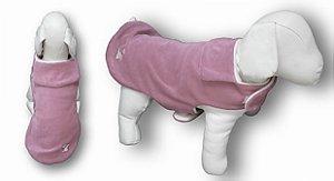 Roupa de Pet Capa Plush Lisa Rosa Fabrica Pet Tamanho 00