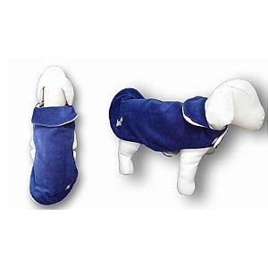Roupa de Pet Capa Plush Lisa Azul Fabrica Pet Tamanho 02