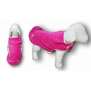Roupa de Pet Capa Plush Lisa Rosa Pink Fabrica Pet Tamanho 02
