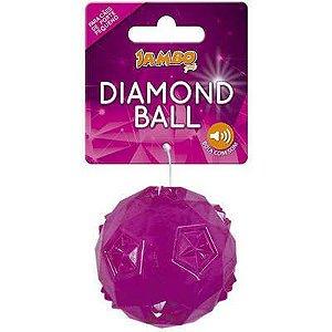 Brinquedo Bola Diamond TPR Grande Rosa Jambo Pet
