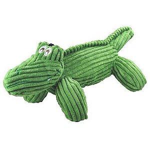 Brinquedo de Cachorro Pelucia Jacaré Veludo Verde Jambo Pet