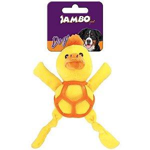 Brinquedo de Cachorro Pelúcia Net Ball Pato Jambo Pet
