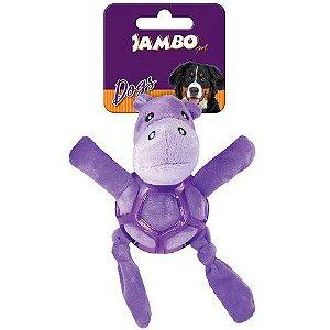 Brinquedo de Cachorro Pelúcia Net Ball Hippo Jambo Pet