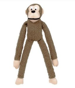 Brinquedo Mordedor Pelucia Macaco Grande Marrom Kelev Jambo