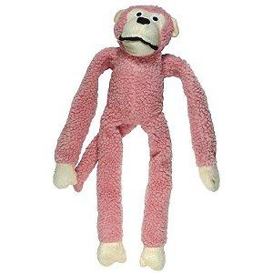 Brinquedo Mordedor Pelucia Macaco Grande Rosa Kelev Jambo