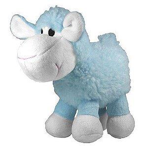 Brinquedo de Cachorro Jambo Mordedor Pelúcia Ovelha Meh Azul