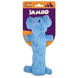 Brinquedo de cachorro Barriguinha Plush Elefante Azul Jambo