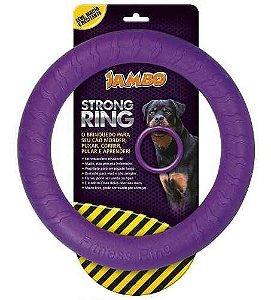 Brinquedo Mordedor Anel Ring Strong Roxo Jambo Pet