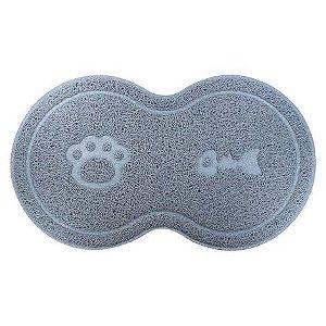 Tapete para Cachorro e Gato Litter Mat Trap 8 Cinza Jambo