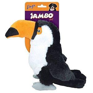 Brinquedo de cachorro Mordedor Pelúcia Tucano Jambo Pet