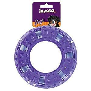 Brinquedo para cachorro Anel Duro espinho Roxo Grande