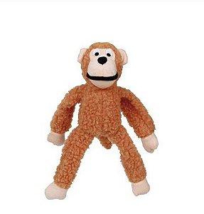 Brinquedo Jambo Mordedor Pelucia Macaco Medio Laranja Kelev