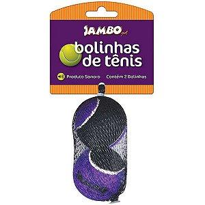 Brinquedo cachorro Bola de Tênis Sonora pequena c/2un Jambo