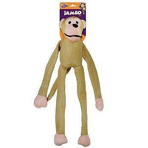 Brinquedo Mordedor Pelúcia Macaco Mesh Grande Ouro Para Cães