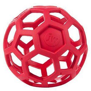 Brinquedo de cachorro Bola Holee Roller Mini Vermelho JW