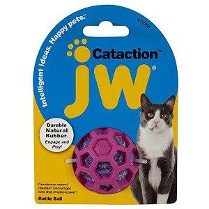 Brinquedo de Gato Bolinha Rattle Ball Roxa JW