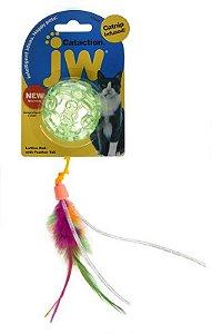 Brinquedo para Gato Bola com Pena Catinip Lattice Ball Verde