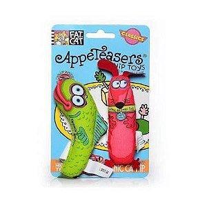 Brinquedo de Gato com Catnip Appeteasers Verde Vermelho