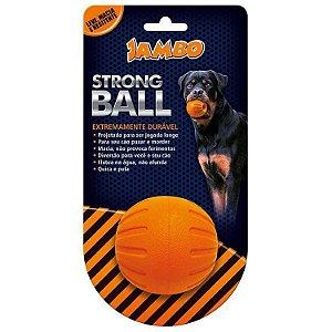 Brinquedo para Cachorro Bola Strong Ball Pq Laranja Jambo