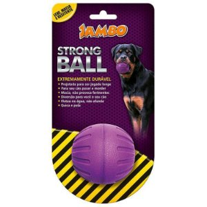 Brinquedo para Cachorro Bola Strong Ball Pq Roxa Jambo
