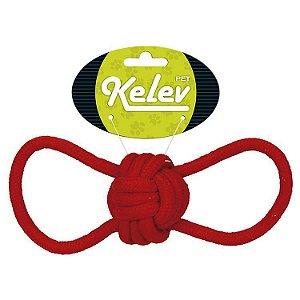 Brinquedo de Cachorro Corda Bola Rings Vermelho Kelev Jambo