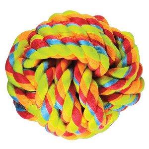 Brinquedo de Cachorro Bola de Corda Média Color Jambo Pet