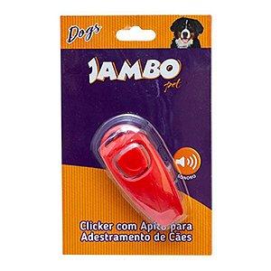 Clicker com apito para Adestramento de Cães Vermelho Jambo