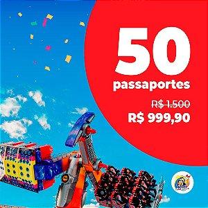 Pacote com 50 passaportes - De R$ 1.500 por R$ 999,90