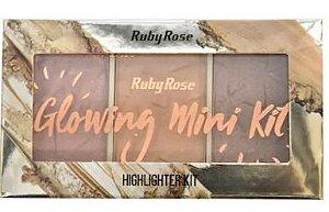 Paleta Iluminador Glowing 3 - Ruby Rose