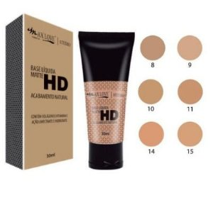 Base Liquida Matte HD Max Love Acabamento Natural Cor 15