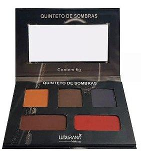 Quinteto De Sombras Matte 02 - Cor 0082 Ludurana