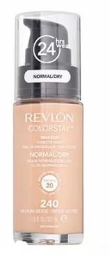 Base Revlon Colorstay Pele Normal E Seca 240 Medium Beige