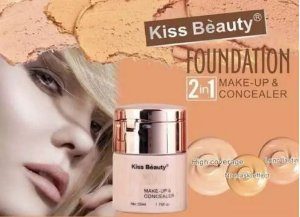 Base e Corretivo - KISS BEAUTY LIQUID FOUNDATION AND MOUSSE (2 IN 1)